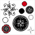Vector set of fancy seals diamond starburst design elements Royalty Free Stock Photo