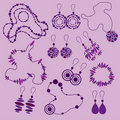 Vector set of fashion jewelry Stock Image