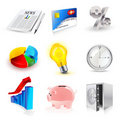 Vector set of finance 3d icons Royalty Free Stock Photography