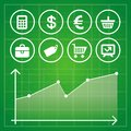 Vector set with finance and business design elements and icons Stock Images