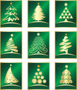 Vector set of firs Royalty Free Stock Images