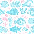Vector set of fish and shells for your business Royalty Free Stock Image