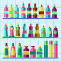 Vector set of flat washing aggents. Royalty Free Stock Photo