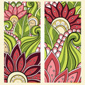 Vector Set of Floral Banners Royalty Free Stock Photo