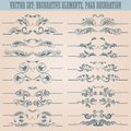 Vector set: floral decorative elements Stock Images