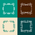 Vector set of floral  frames Royalty Free Stock Photo