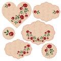stock image of  Vector set of floral frames