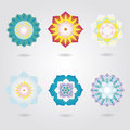 Vector set floral mini mandalas Stock Images