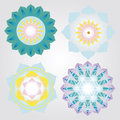 Vector set floral mini mandalas Stock Image