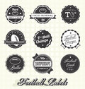 Vector set football champs labels and icons collection of champion Stock Photo