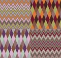 Vector set of four argyle and chevron patterns Royalty Free Stock Image