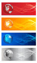 Vector set of four headers design Royalty Free Stock Photos