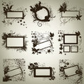 Vector set of frames with Autumn Leafs. Thanksgiv Royalty Free Stock Photography