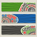 Vector set of gamble banners for Casino Royalty Free Stock Photo