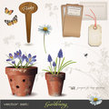 Vector set: gardening Stock Image