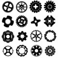 Vector set of gear icons Stock Image