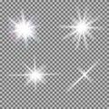 Vector Set Of Glowing Light Bu...