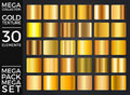 Vector Set of Gold Gradients, Golden Squares Collection, Textures Group