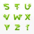 Vektor sada skladajúca sa z zelený označenie organizácie alebo inštitúcie listy