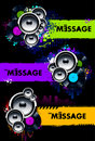 Vector set of grungy musical banners Royalty Free Stock Image