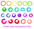 Vector set from hand drawn abstract ink circles spectrum each element on separated group element for your designs and other Royalty Free Stock Photo
