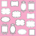 Vector Set of Hand Drawn Doodle Frames Stock Photos