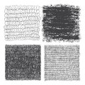 Vector set of hand drawn squares. Sketch, set of textures. Eleme
