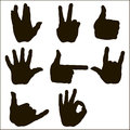 Vector set of hand gesture Royalty Free Stock Photo