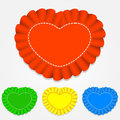 Vector set of heart shaped labels colourful illustration Royalty Free Stock Photography