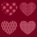 Vector set of hearts shape original design Stock Photography