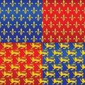 vector Set of heraldic seamless background Royalty Free Stock Photo