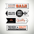 Vector set of horizontal vintage labels and banners Royalty Free Stock Image
