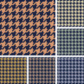 Vector set of houndstooth pattern Stock Image
