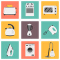 Vector set of household appliances design flat icons