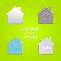 Vector set of houses shape original design Stock Image