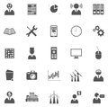 Vector set of icons business symbols and pictograms Stock Photography