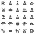 Vector set of icons business symbols and pictograms Stock Image