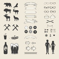 Vector set of icons and labels for your design