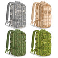 Vector set icons Military Camouflage Backpacks