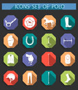 Vector set of icons polo in flat style Royalty Free Stock Photo