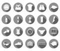Vector set of icons volleyball Royalty Free Stock Photo