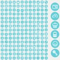 Vector set of icons for web and user interface design travel computer business concepts Stock Photo