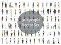 Vector set of illustrated people Royalty Free Stock Photo