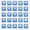 Vector set illustration collection of modern icons in flat design Shopping and e-commerce Isolated web button Royalty Free Stock Photo