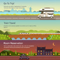 Vector set illustrations of travelling Royalty Free Stock Photo