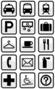 Vector set of international service signs. Royalty Free Stock Images
