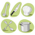 Vector set of kitchenware. Stock Image