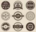 Vector set of labels Stock Photography