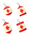 Vector set of labels with canada flag isolated Stock Images