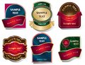 Vector set of labels in a classic style.